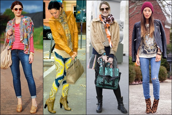 Wear print accessories to enhance more colors and dimension to your outfit