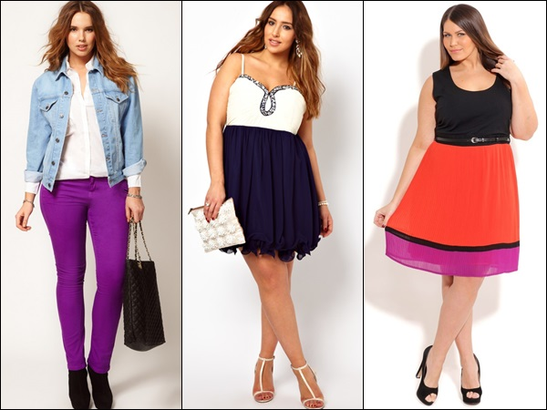 Bright and vibrant colors for plus size fashion styles