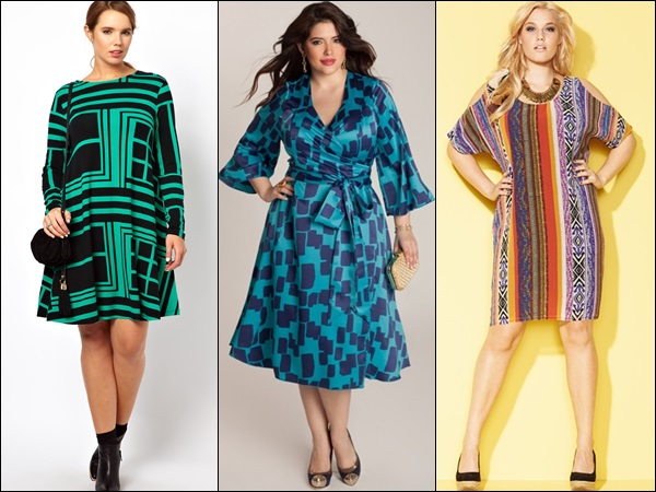 Plus size fashion with colorful patterns for this summer bright.