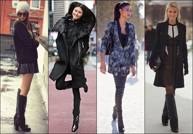 High Sleek Boots for thin legged women