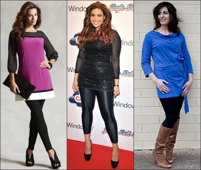 Stylish looks of leggings in black color for plus size women