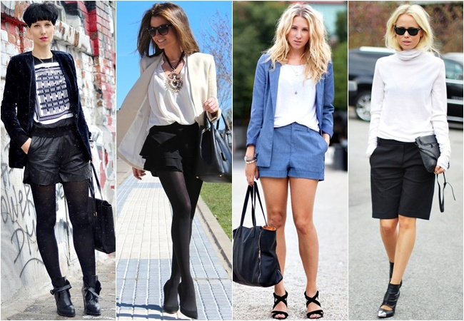 Shorts as working outfits