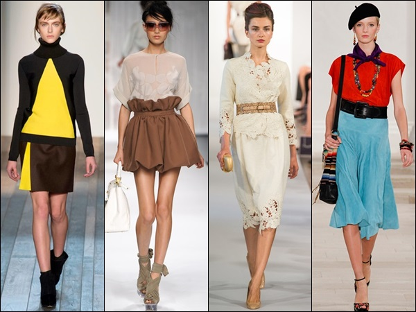 Pleats, layers, belts, textured fabrics are good options to accentuate your silhouette
