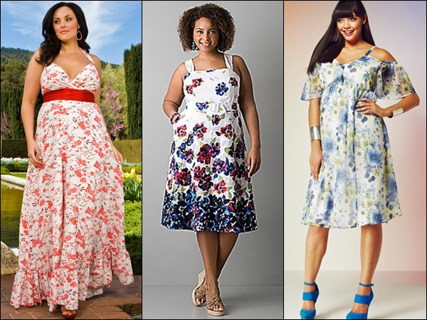 Plus size fashion look with floral prints