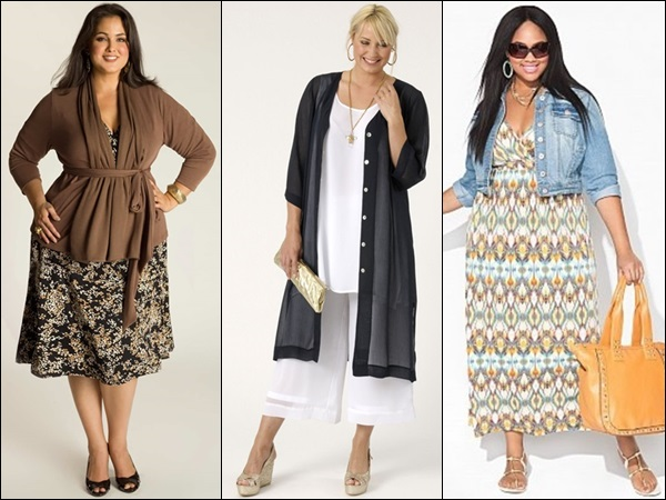 Plus size fashion look with layers