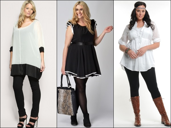 Casual black and white plus size fashion style