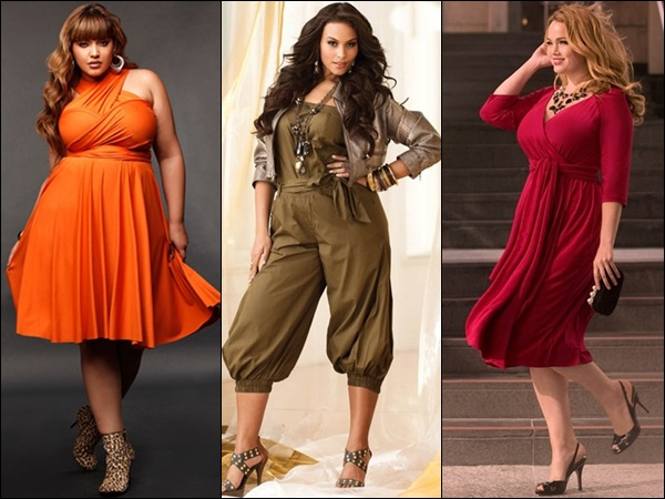 Monochromatic plus size fashion look with one or two toned outfit