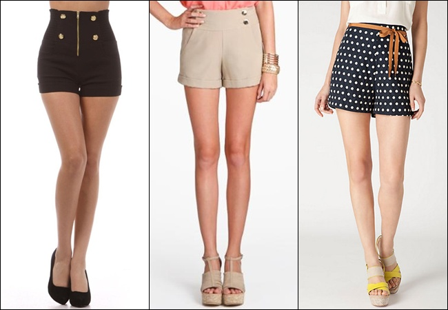 shorts with mid-length or knee-length cuts