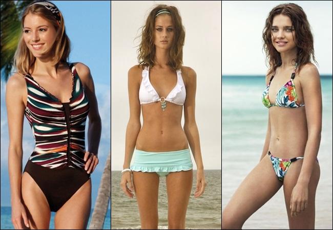 Designs of swimwear best suited for skinny women