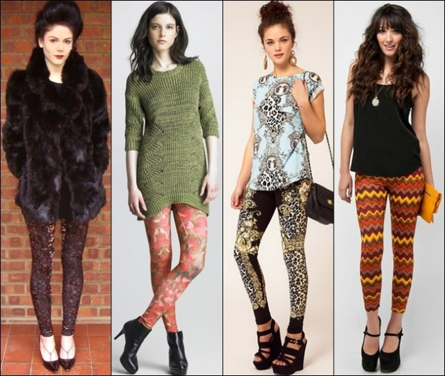 The trendy printed leggings are fabulous for more colorful and fun appearances, great to combine with flats, boots or heels