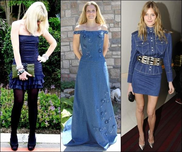 wedding guest dress in denim or jeans