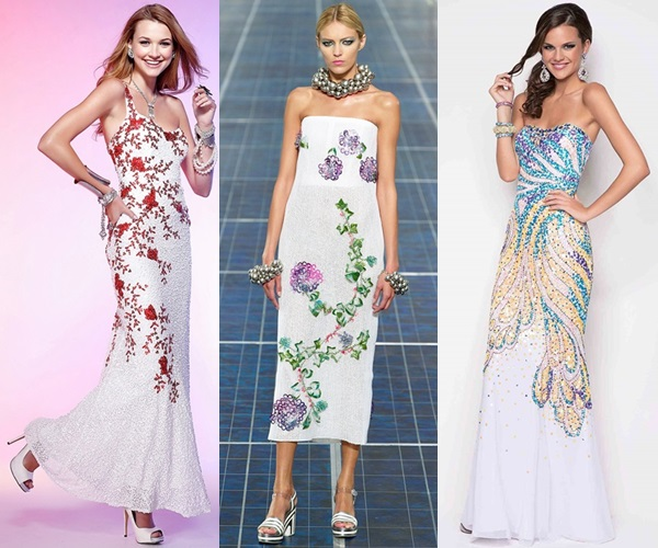 While knee-length dresses are great for a day-time wedding party