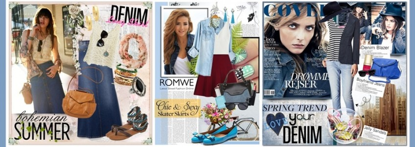 15 Denim Outfit Set Ideas for Spring Summer 2016