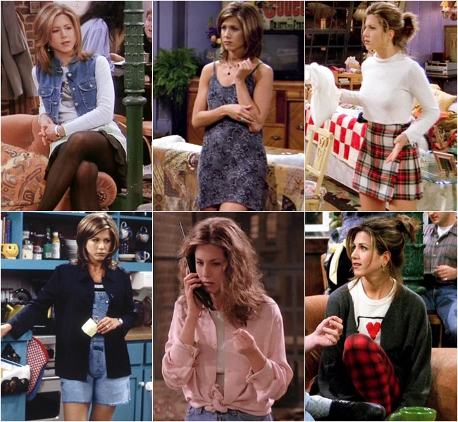 "Jennifer Aniston in ""friends"" the 90s Fashion Styles"