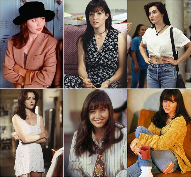 "Shannen Doherty in ""Beverly Hills, 90210"" the 90s Fashion Styles"