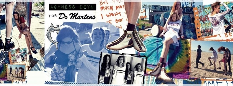 Agyness Deyn for Dr. Martens Spring Summer 2014 Campaign