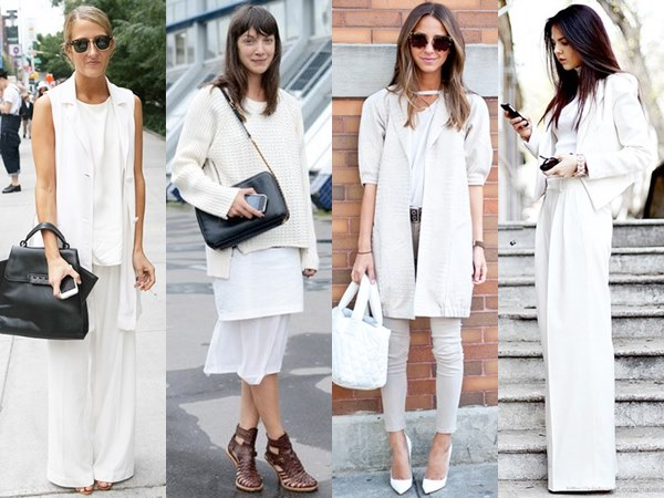 White on White Fashion Look with Layer to Create Dimension
