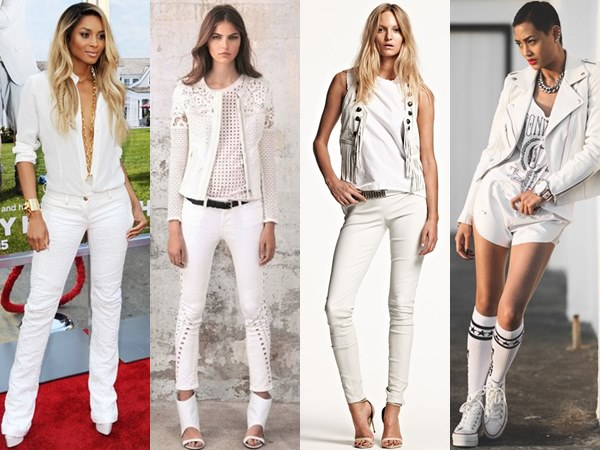 wearing white-on-white in rock attitude is to abuse a darker side of white, yet the softer side of rocky styles