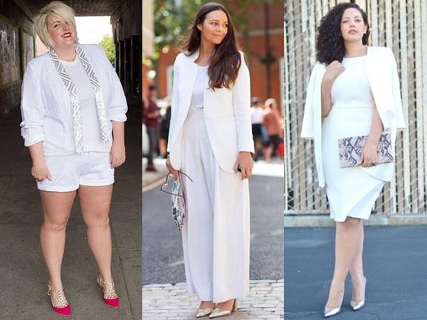 All-white Fashion Looks for Plus Size Women