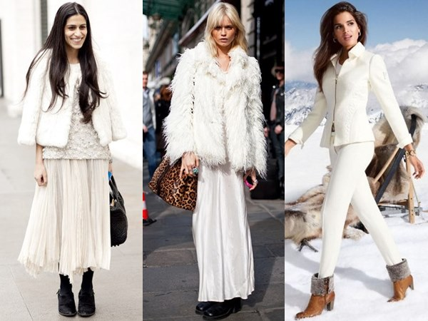 White on White Fashion Look for Winter by Using Different Textures