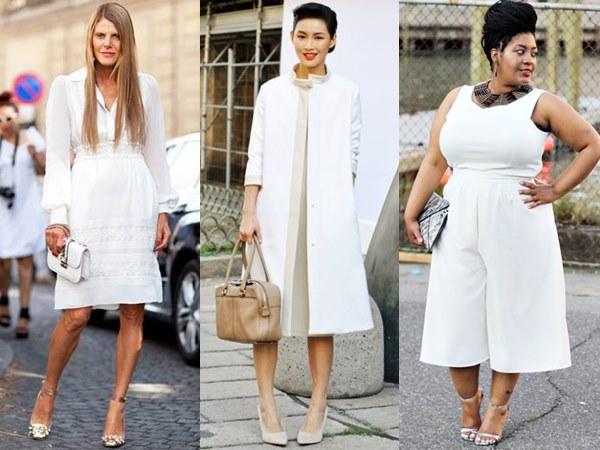 White on White Office Fashion Look