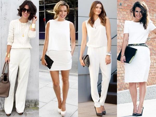 White on White Semi Formal Office Fashion Looks