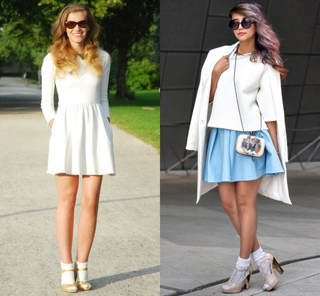 Ankle Socks with Heeled Sandals