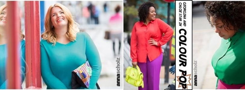 Anna Scholz Spring Summer 2016 Plus Size Colour Pop Collection