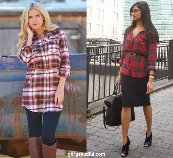 Belt Up the Flannel Shirt to Emphasize Your Waist
