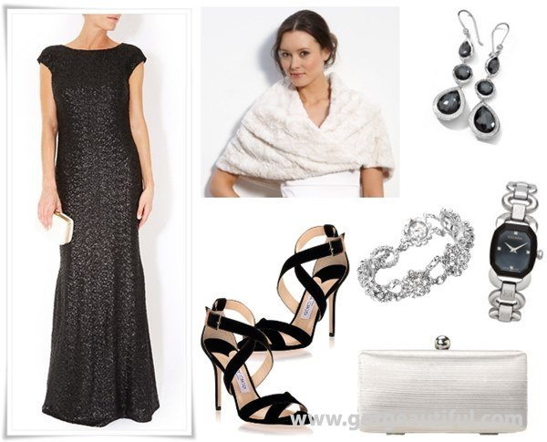 Black Wedding Guest Dresses and Accessories for Fall and Winter