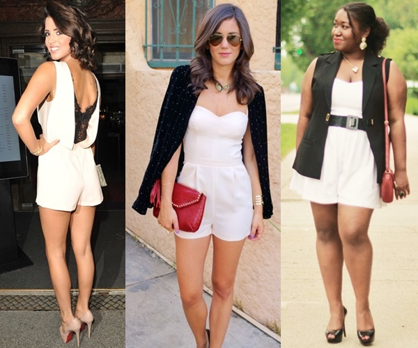 Classic Style Black and White Combo Style with Playsuit for A Night Out