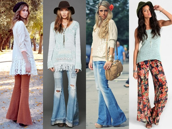 Bohemian Flare Pants Fashion Look