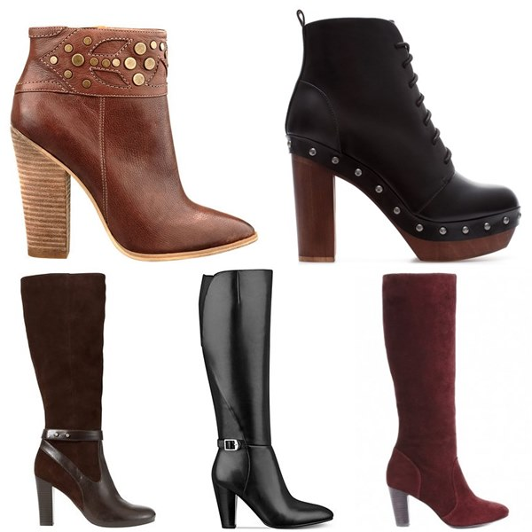 Boots with Stacked Heel for Pear Body Shape