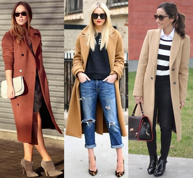 Classic Oversized Coat in Brown, Leather Shades