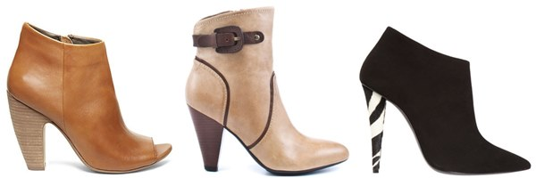 Cone Heel Ankle Boots for Hourglass Body Shape