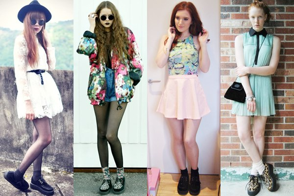 Girly Looks with Creeper Shoes