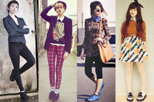 Preppy Outfits with Creeper Shoes