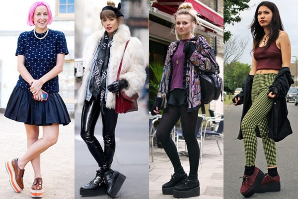 Grunge and Punk Styles with Thick Sole Creeper Shoes