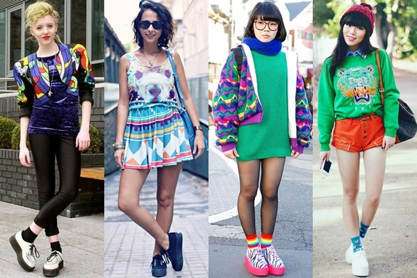 Creeper Shoes with Vibrant Colorful Outfits