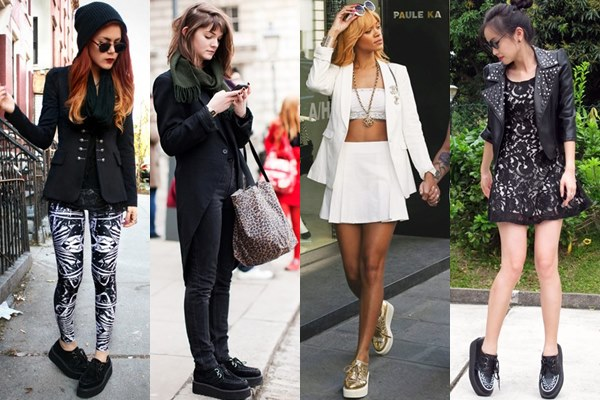 Street Style Fashion: Creeper Shoes with Blazer