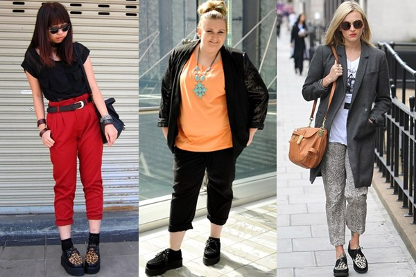 Street Style Fashion: Creeper Shoes with Cropped Pants