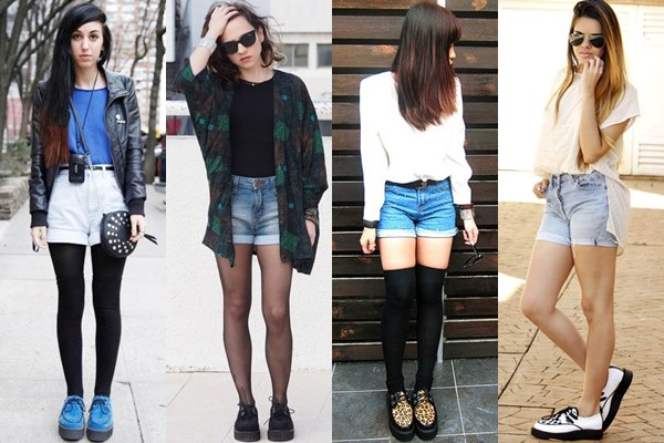 Street Style Fashion: Creeper Shoes with Shorts
