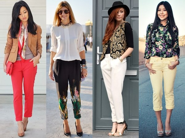 Clothes for petite women - Cropped pants or trousers