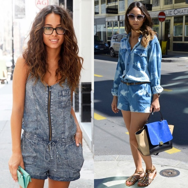 Easy and Fun Denim Playsuit for a Cool, Casual Look