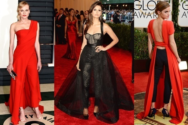 Celebrity Red Carpet Style with Gown and Trousers