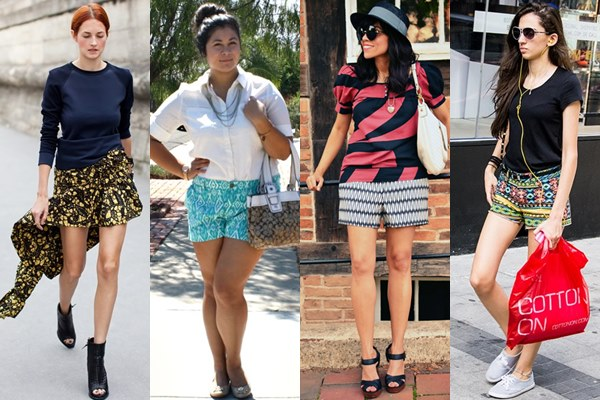 Ethnic Printed Shorts Ideas for Spring and Summer