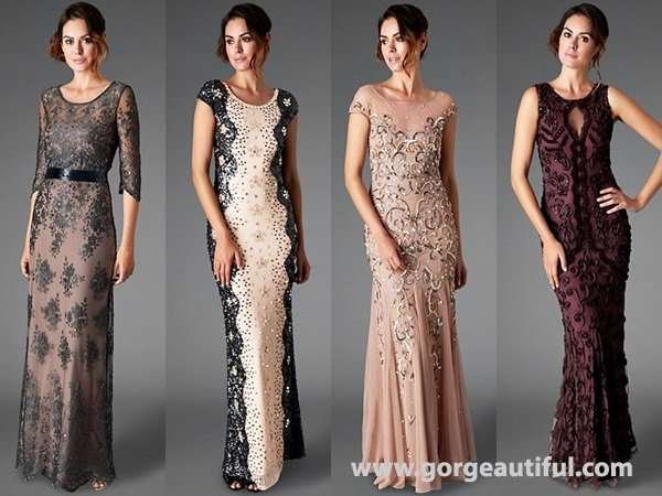 embellished gowns to a formal, black-tie reception for winter