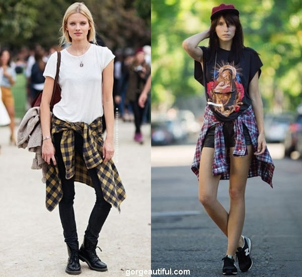 Tie Your Flannel Shirt Around Your Waist to Get that Cool 90's Trend