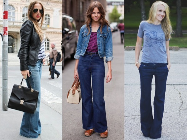 well fitted flare pants