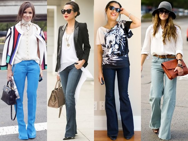 High waisted flare-out pants